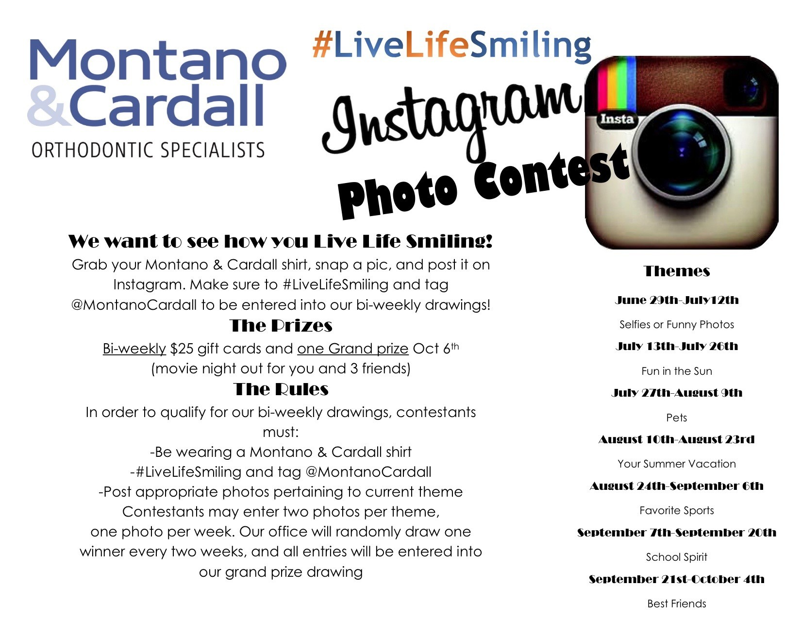 Montano Cardall #livelifesmiling Instagram Contest